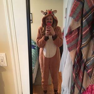 Women's Rudolph onesie size XL